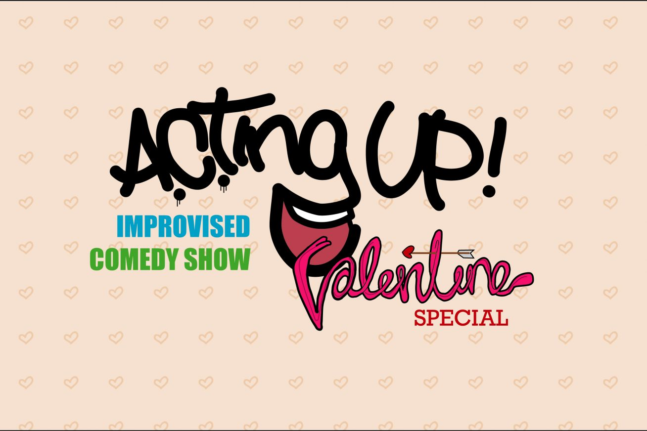 Improvised Comedy - ACTing Up logo - laughing mouth