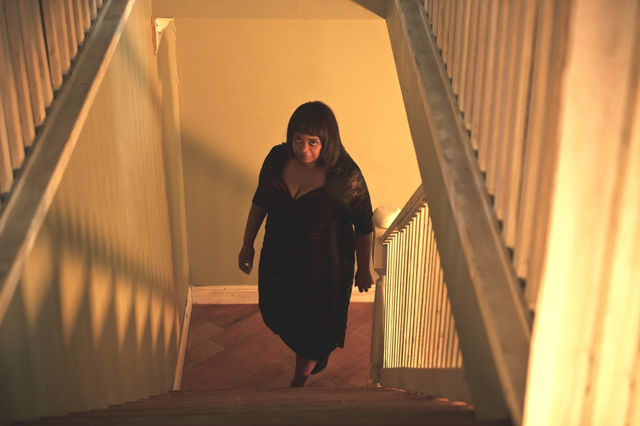 Ma - Actor Octavia Spencer lurks at the bottom of the stairs