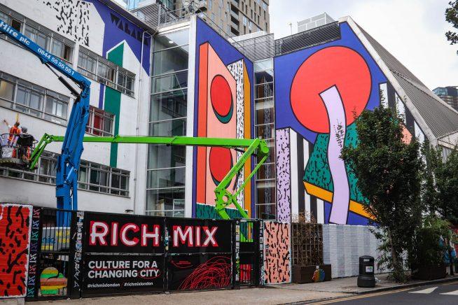 Camille Walala's 'Belleville' mural for London Mural Festival